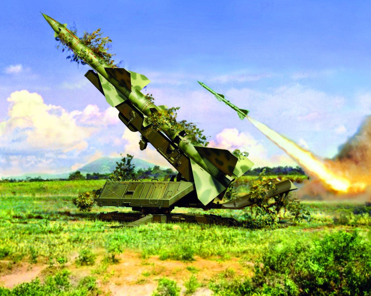 Surface to Air Missile (SAM) launch in North Vietnam by the 236 SAM regiment 1972. SAM missiles would account for over one-third of the American planes shot down in the Vietnam War.