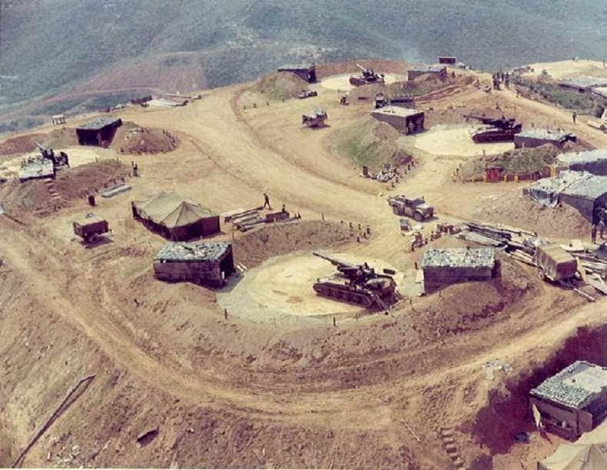 American firebases in Vietnam were often located on hilltops to bring more effective fire upon enemy forces.