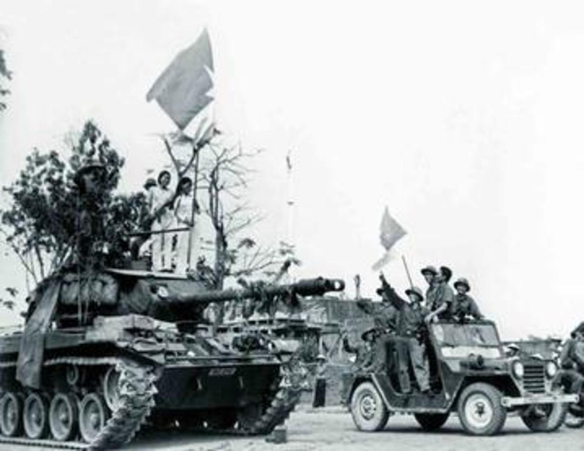 The capture of Hue, March 1975, after American troops left Vietnam.