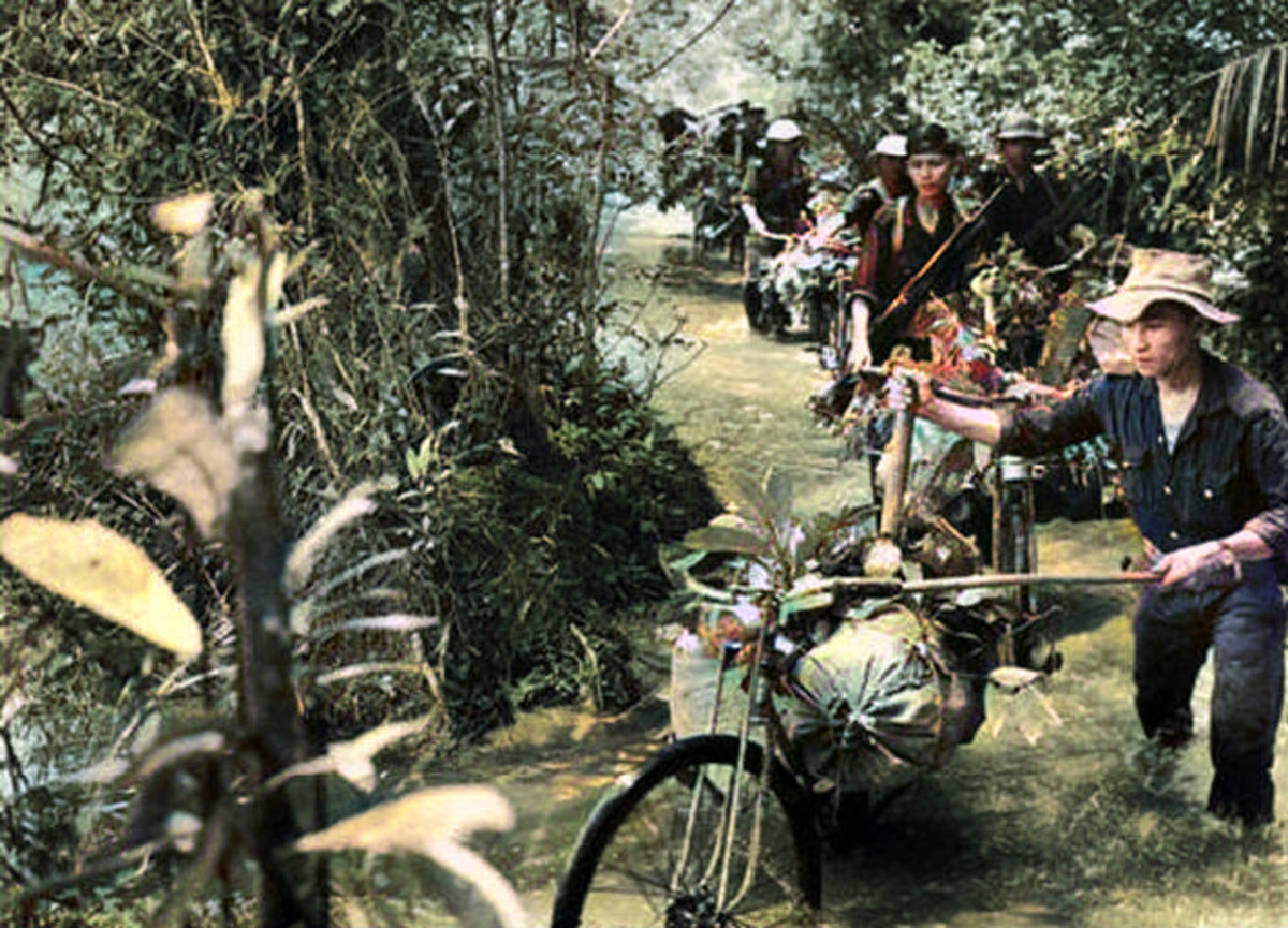 The Ho Chi Minh trail required, on average required four months of tough travel for troops from North Vietnam to reach the Southern battlefields.