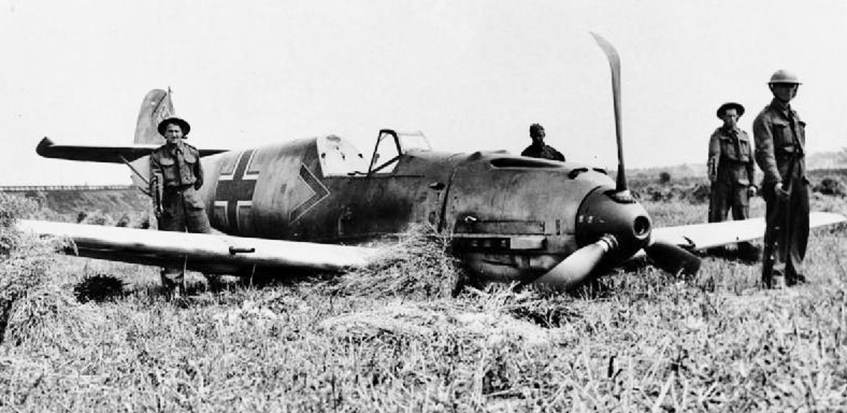Wrecked Messerschmitt Bf 109