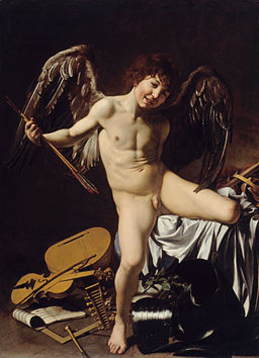 A painting by Caravaggio 'Amor Vincit Omnia'