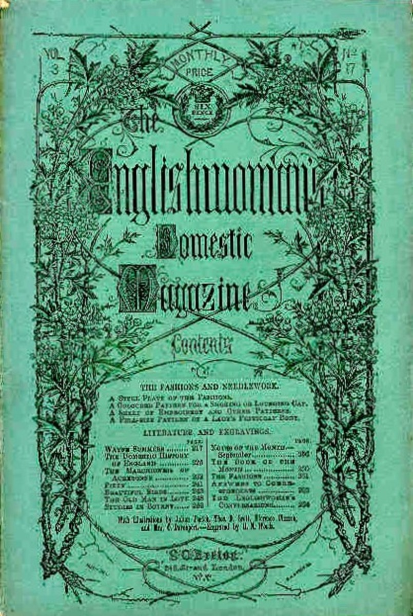 The English Woman's Domestic Magazine was published by Samuel Beeton