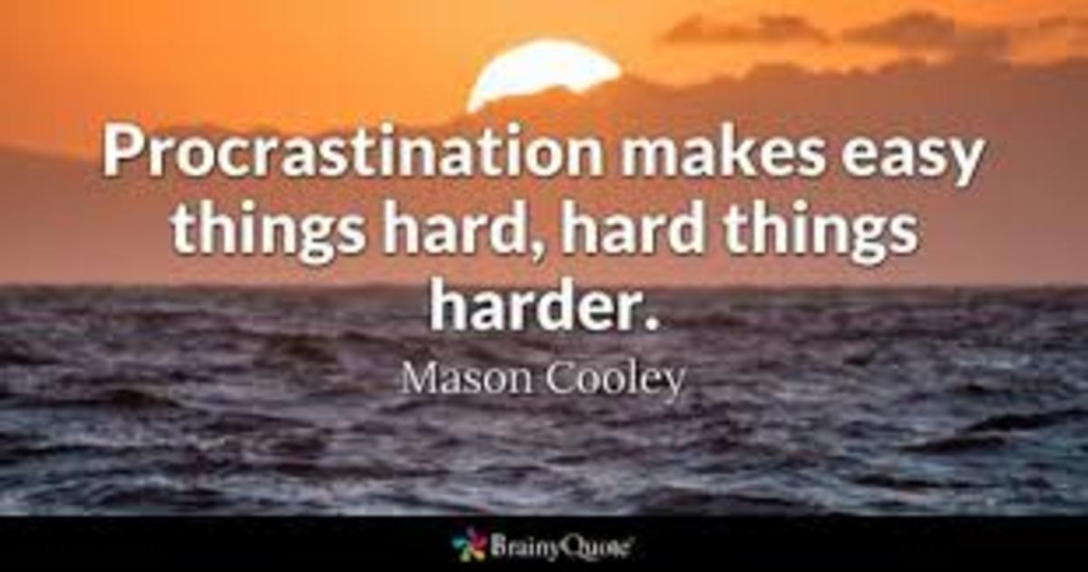 Procrastination Is an Enemy of Time