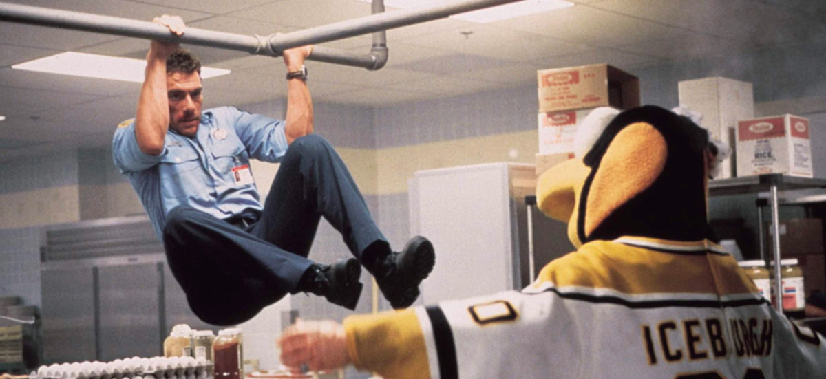 The undoubted highlight of the film is a scrap between Van Damme and the Pittsburgh Penguins mascot - something you're unlikely to find in any other film of this type.