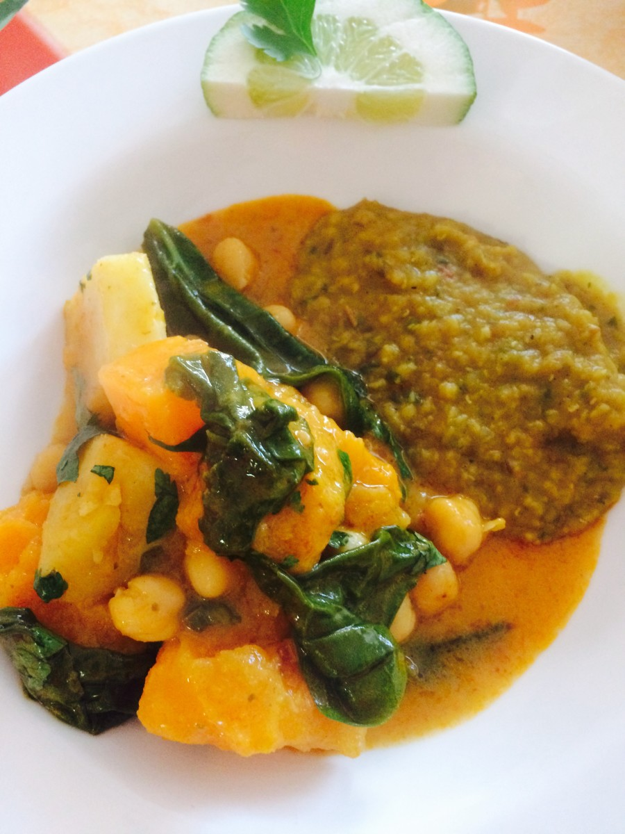 Vegetable Curry with Pumpkin and Chickpeas