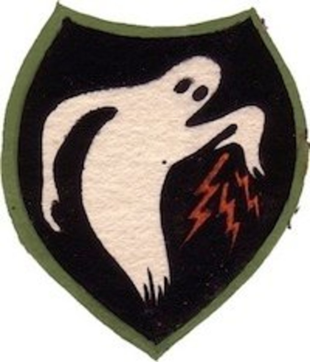 Insignia patch of 23rd Headquarters Special Troops, also known as the Ghost Army