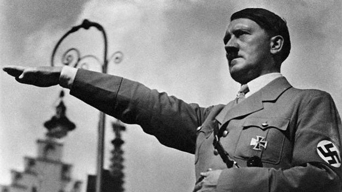 The Fuehrer(Hitler) Holding His Nazi Salute