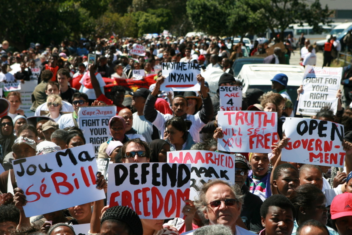"South Africa's political party, the ANC, claims the bill will strengthen national security and is not aimed at muzzling the press. But for some the Bill is part of a wider assault by the ANC on press freedom. ""The rhetoric of the ANC government has g"