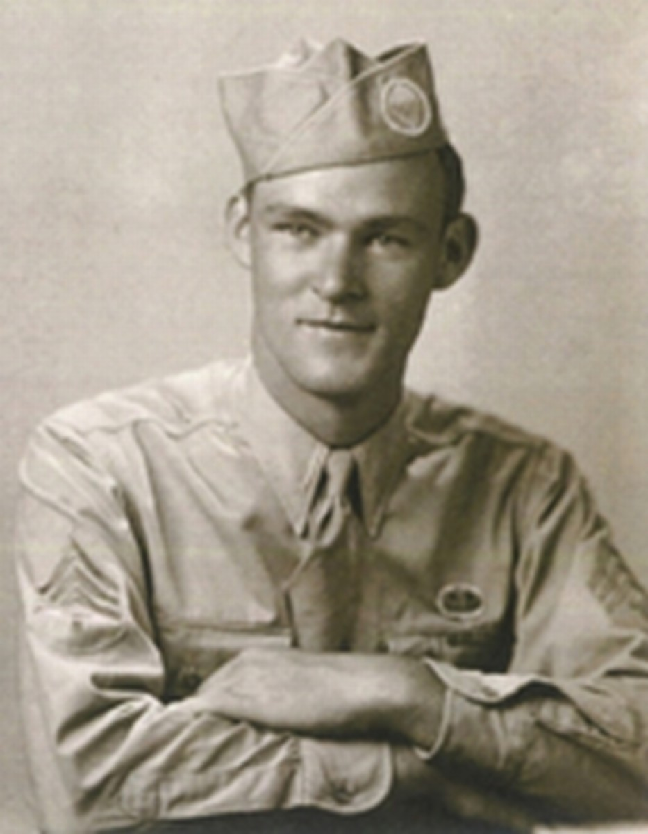 WW2: Sgt. Joseph Beyrle (August 25, 1923 - December 12, 2004) in 1943. Image provided by Joseph Beyrle Jr.