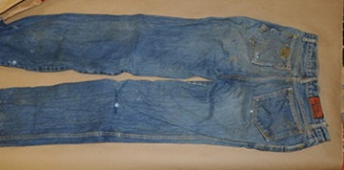 """Valentine Salley was wearing """"Seasons"""" brand blue jeans. Photo courtesy of Missing Leads."""