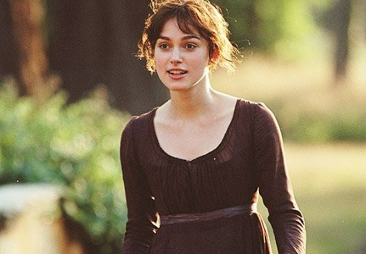 Keira Knightley as Lizzie Bennet from Pride & Prejudge