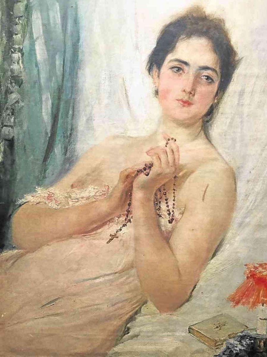 Mi Novia painting, believed to be Luna's wife.