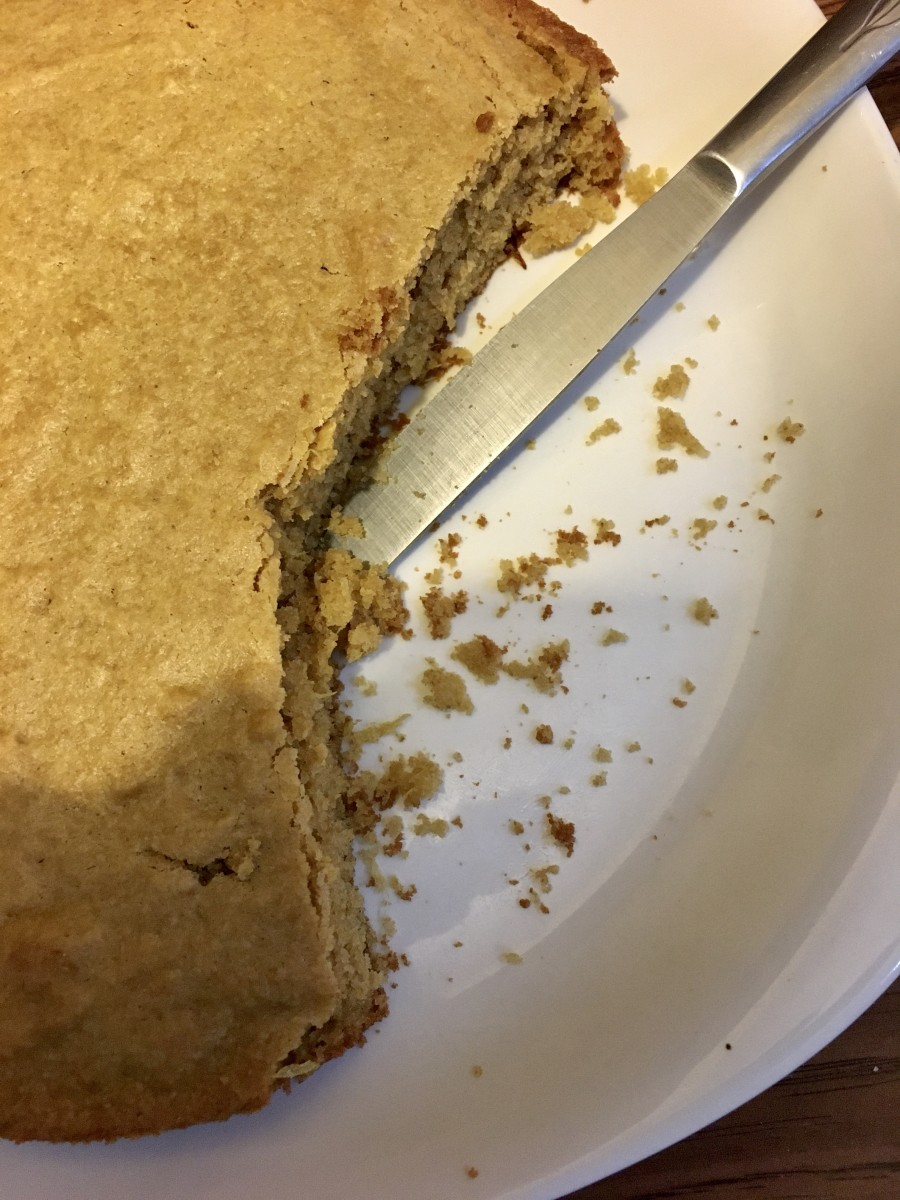 Orange cake - a closer look