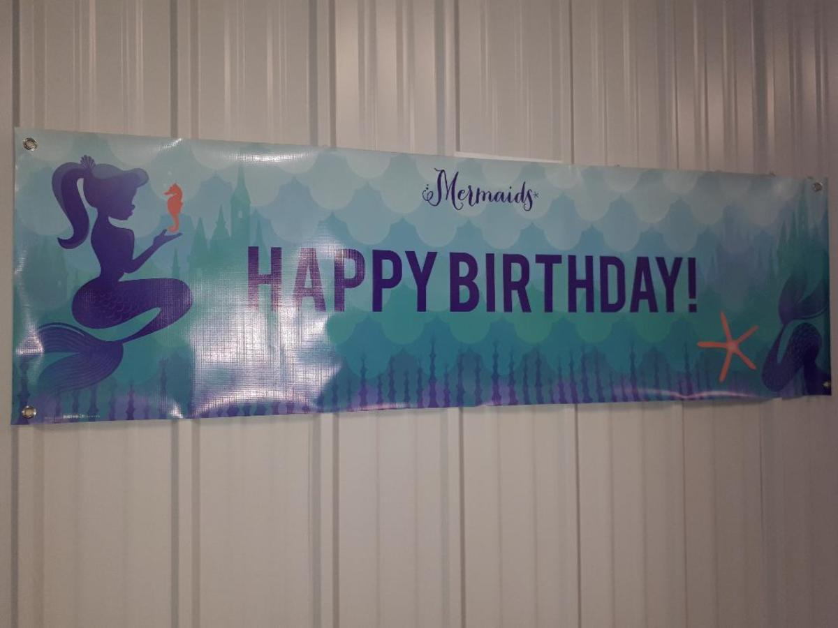 Birthday sign at my niece's 10th Birthday
