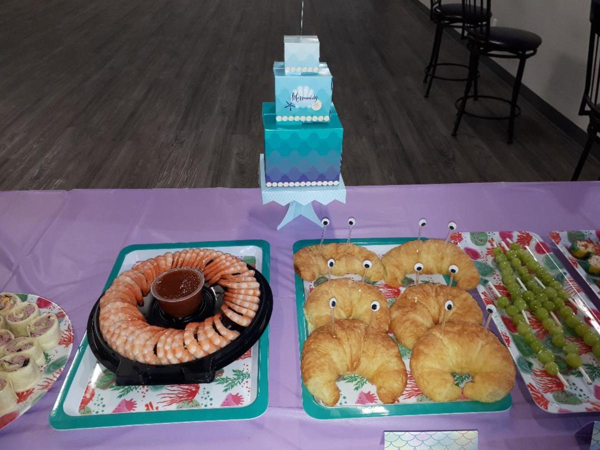 Mermaid Party Food - Shrimp and Croissant Lobsters