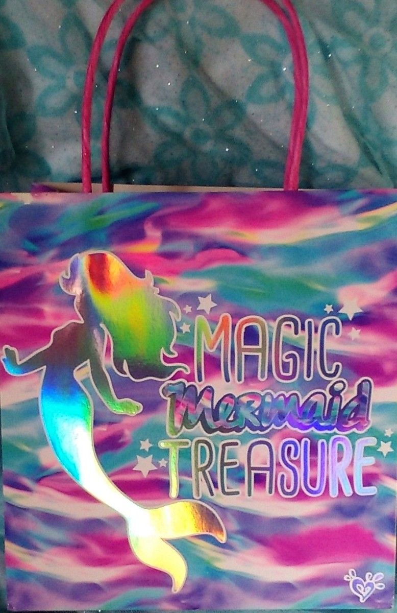 Mermaid favor bag purchased at Justice