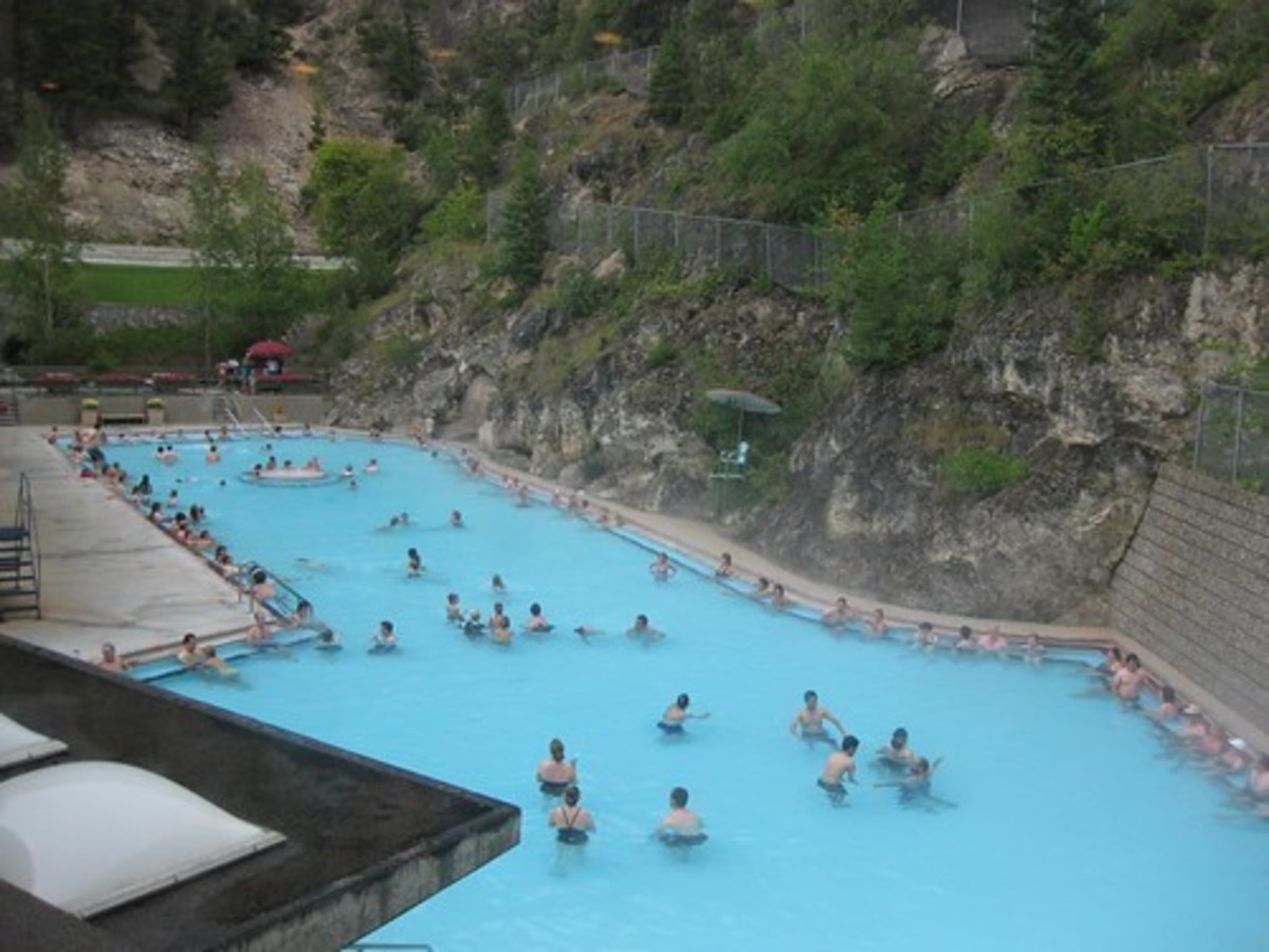 People enjoy Radium Hot Springs in British Columbia. The concentration of radium is so low as to be harmless.