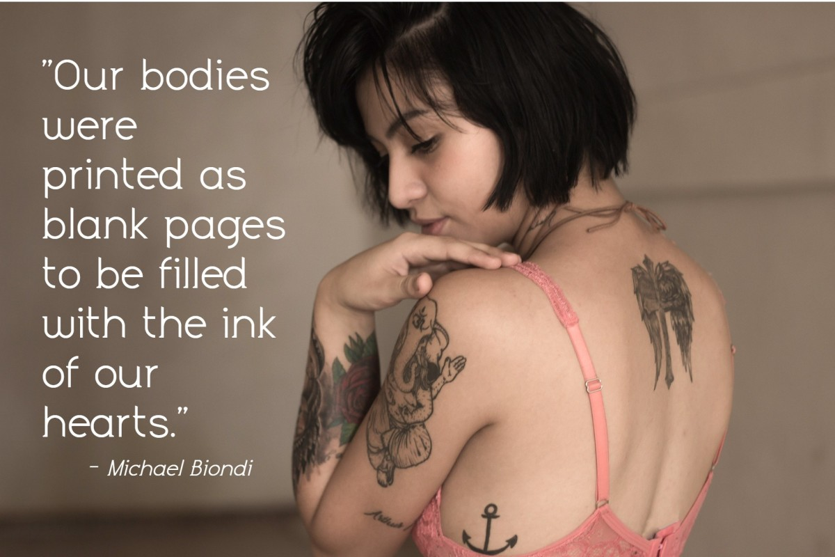 """Our bodies were printed as blank pages to be filled with the ink of our hearts."" ― Michael Biondi, American swimmer"