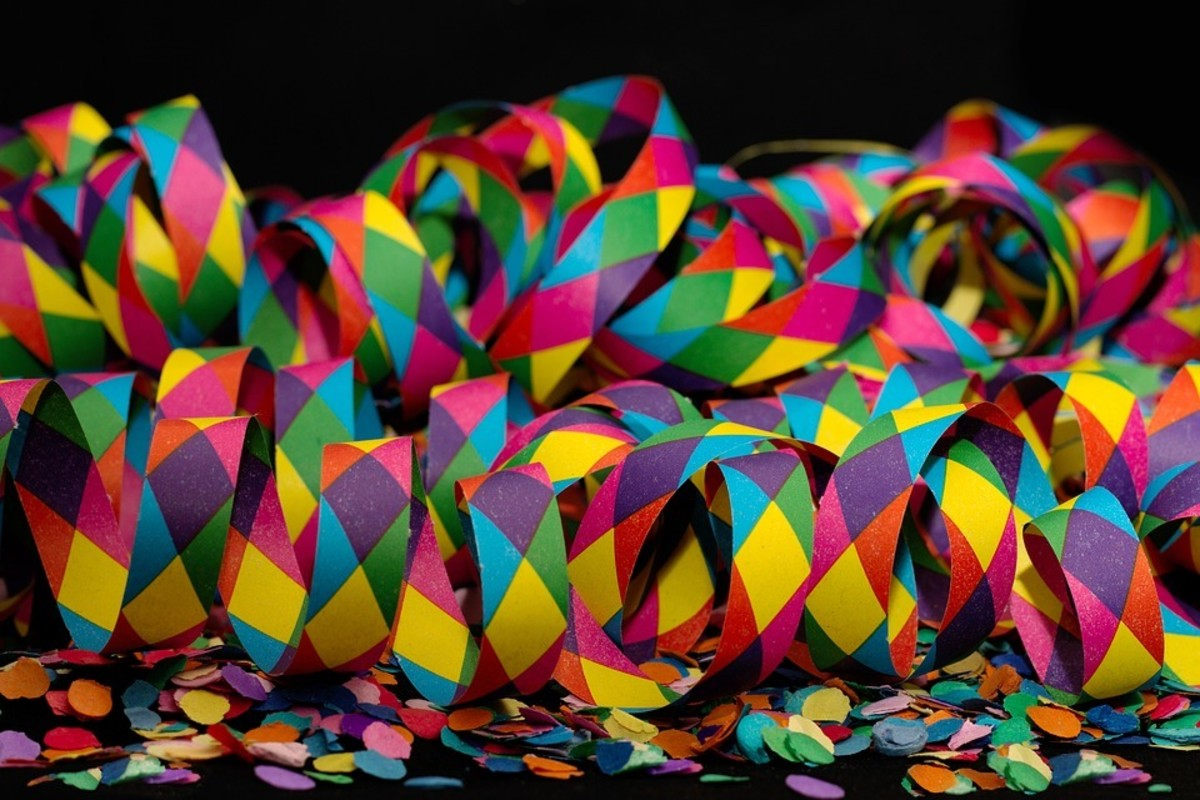 Twirls make unusual confetti and can also be used as table decorations.