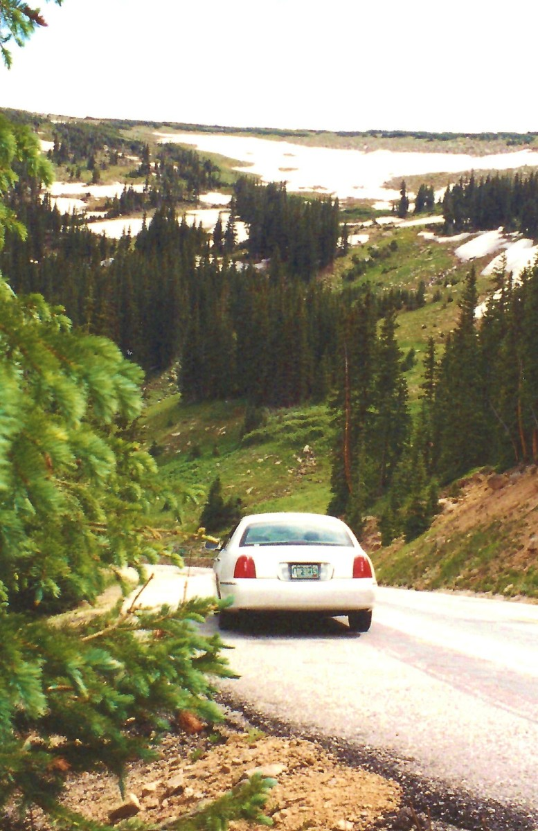 Car descending Trail Ridge Road