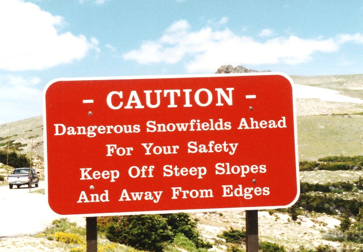 Sign on Trail Ridge Road