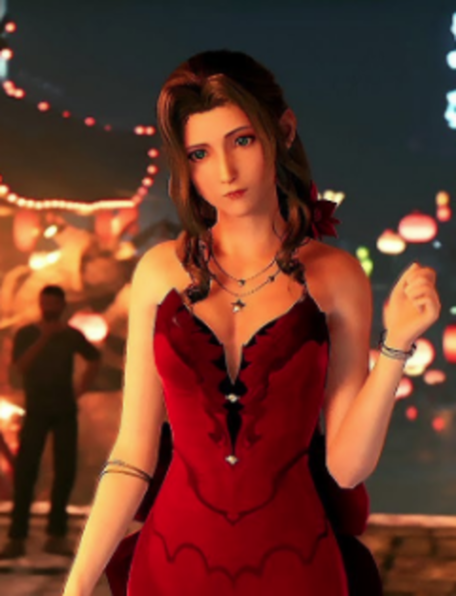 Wallmarket Aerith from Final Fantasy VII Remake