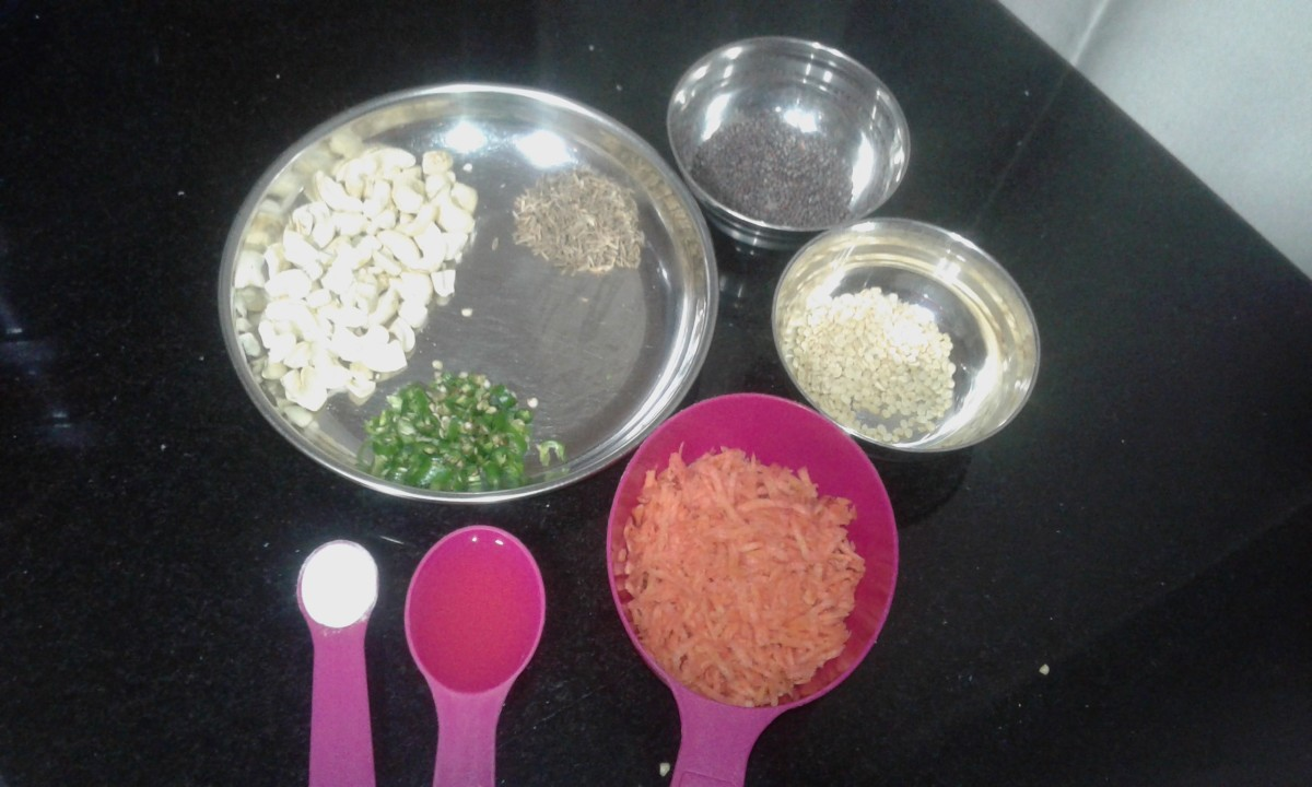 Ingredients for tempering the idli