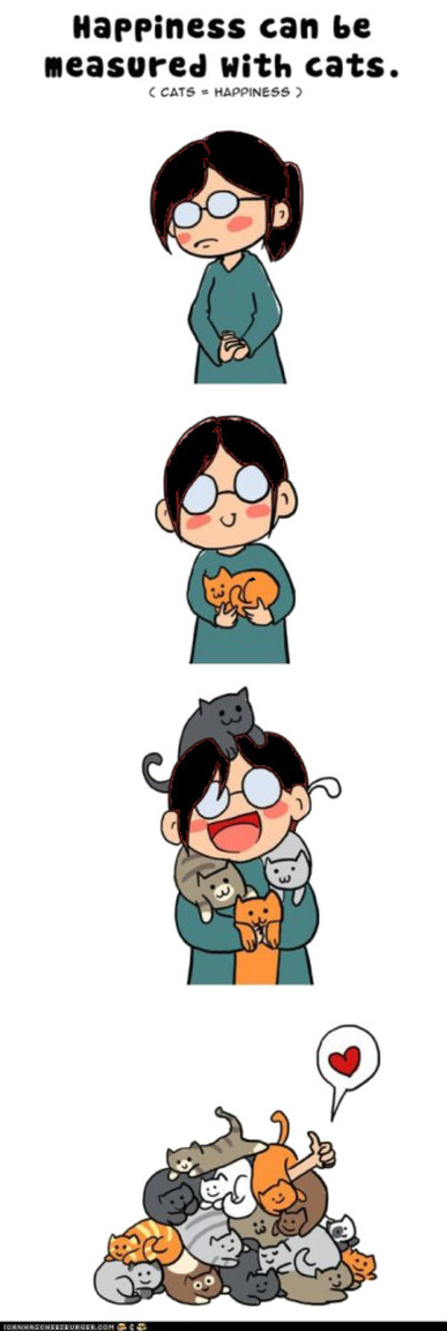 If only increasing happiness could be done by collecting kitties!