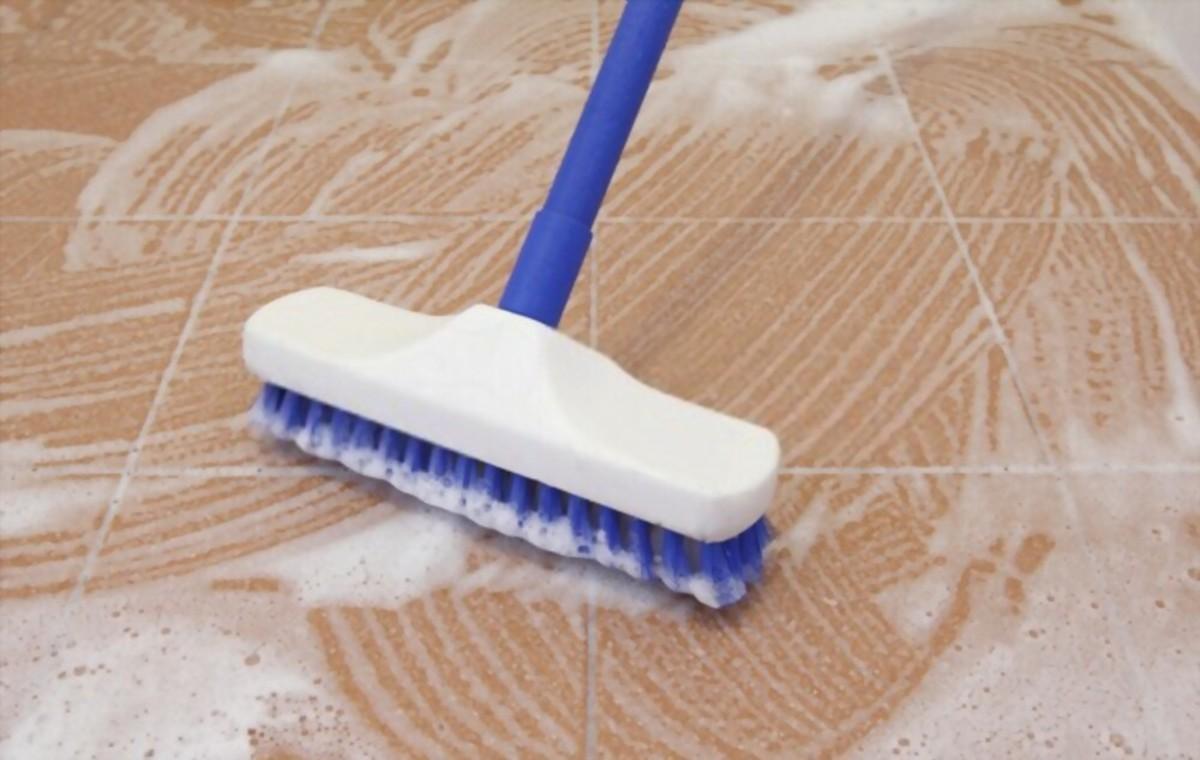 Floor Brush Cleaning