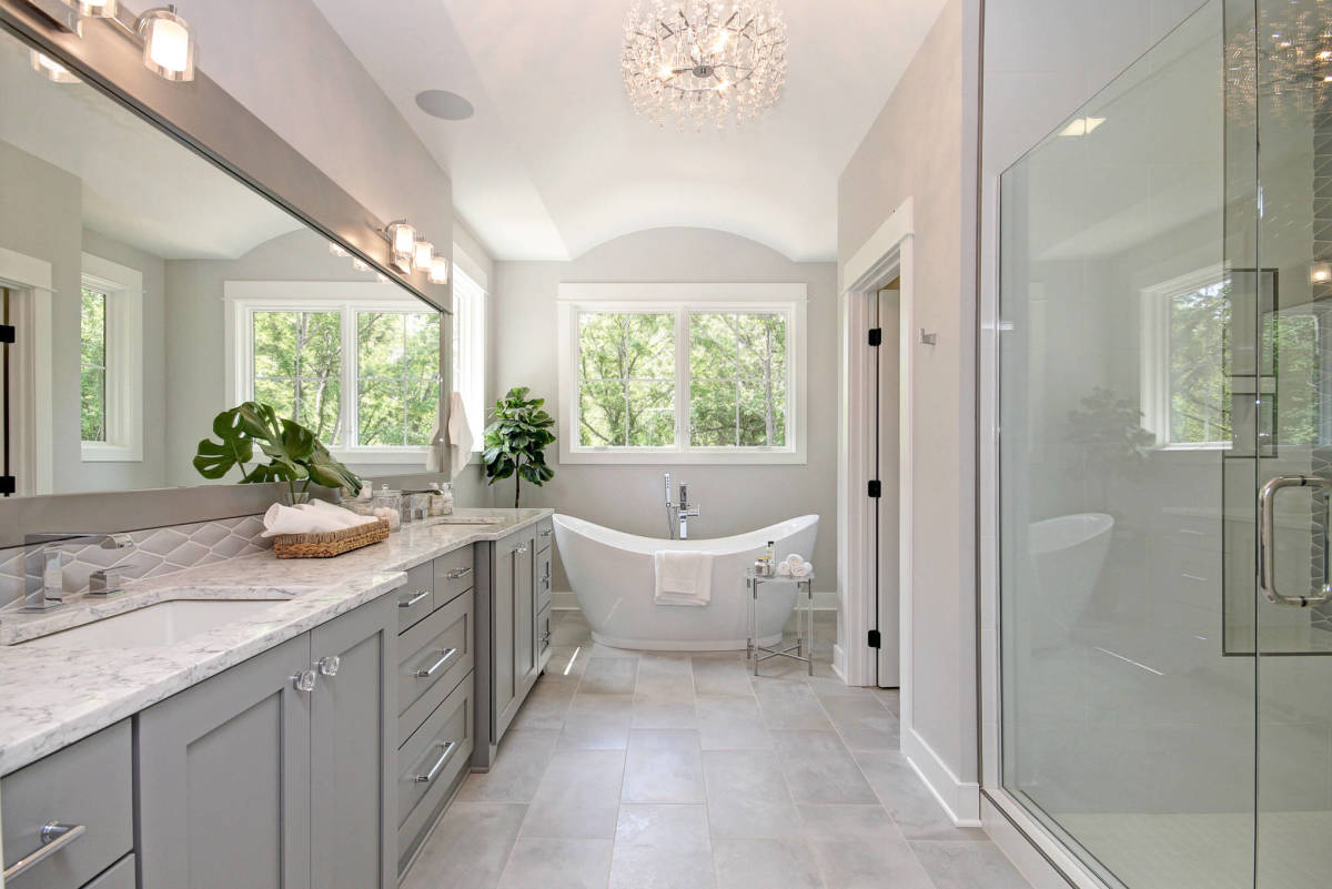 Gray is an excellent color tone for the Chinese Zodiac Pig bathroom. The Pig wants plenty of space, glass doors for their shower, and lots of counter space. Put away electronics and makeup. Keep things tidy.