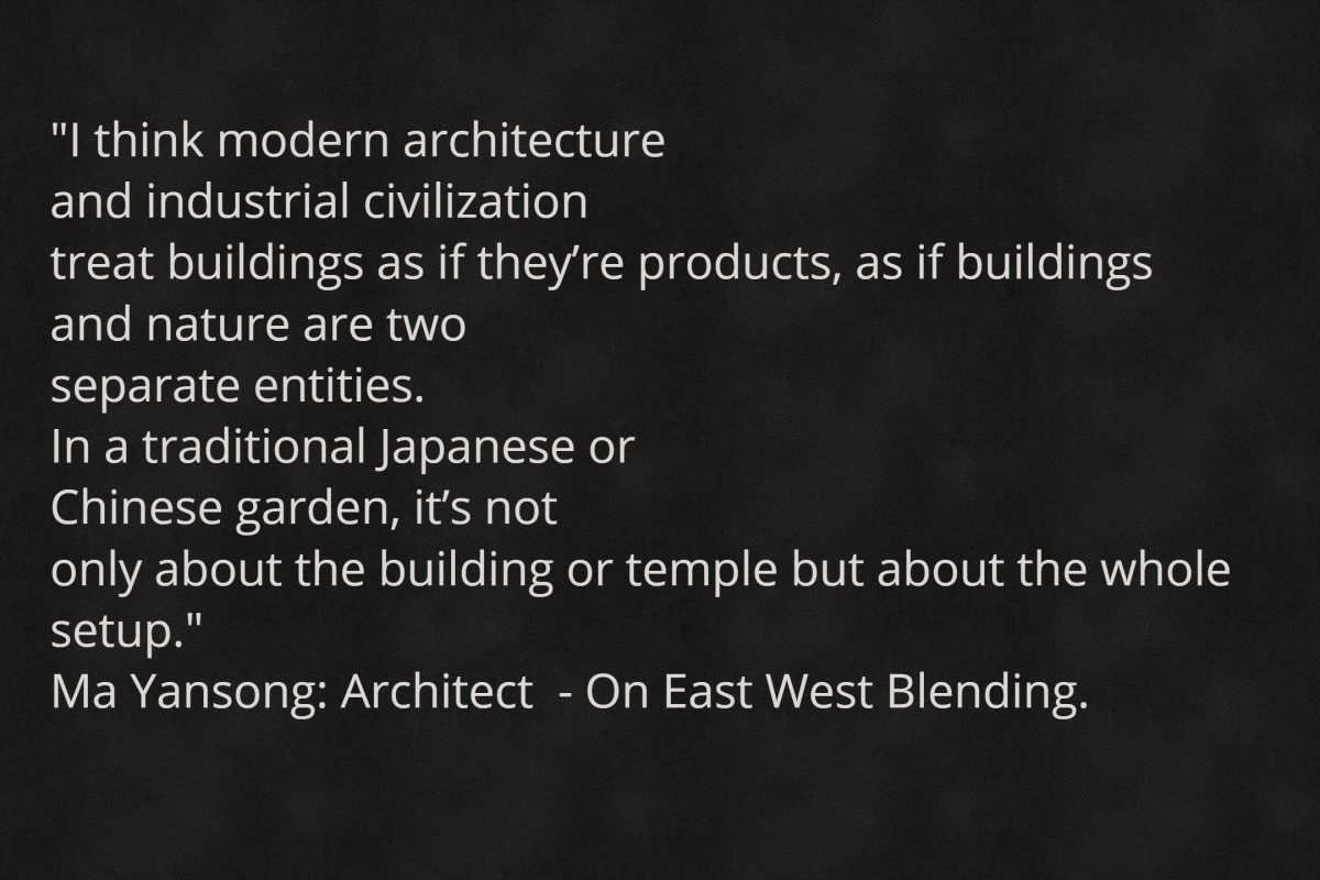 Interconnection and holistic principals are reflected in all areas of modern culture including architecture.