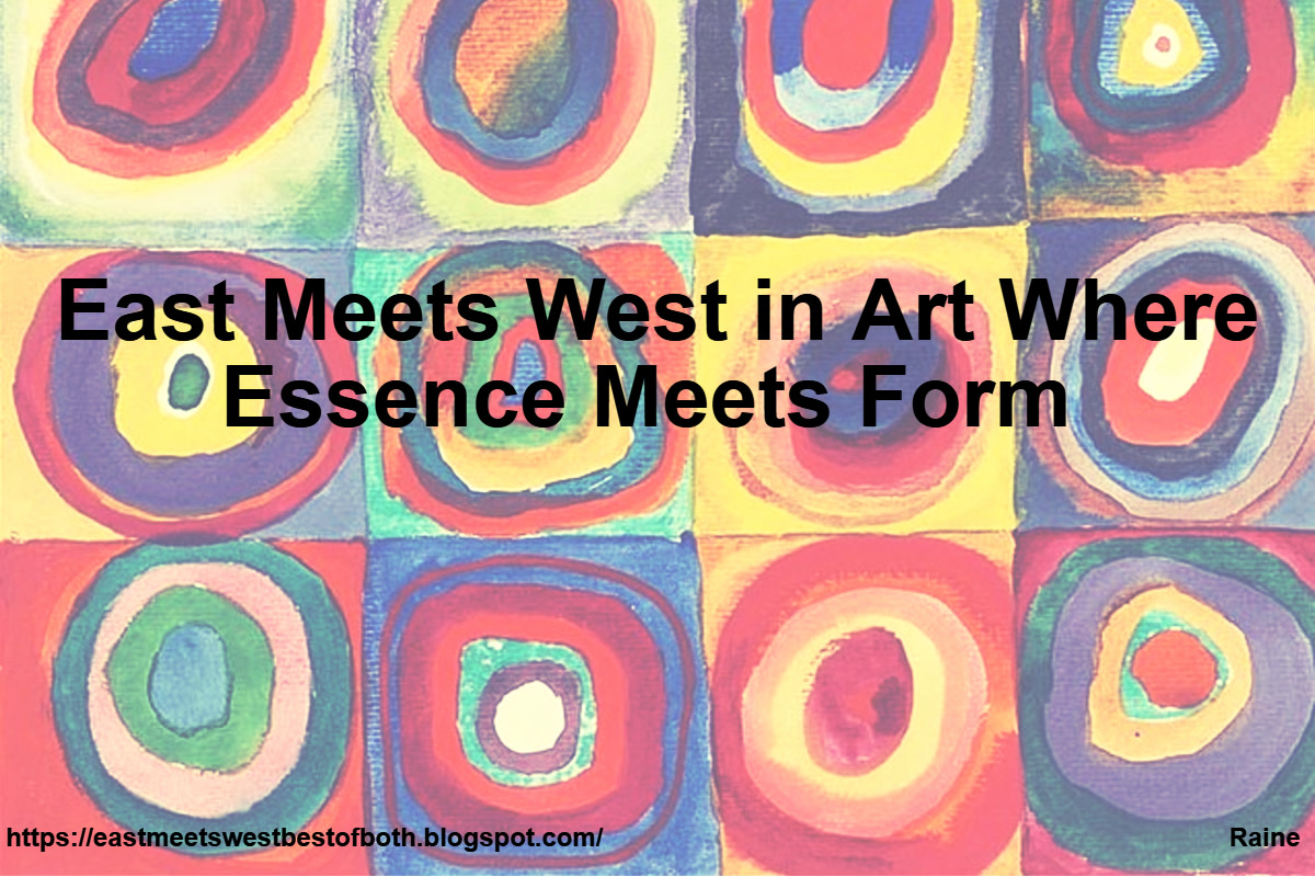Western art is rooted in structure, detail and form whilst Eastern art seeks to capture the essence of a subject.