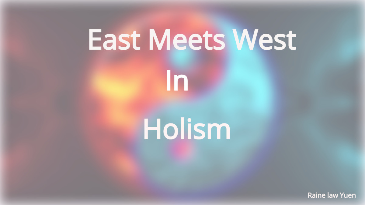 east and West are contradictory but complementary opposites. Just as the left and right brain creates a holistic view of  existence, so does Eastern and Western values create a holistic view of mankind's reality.
