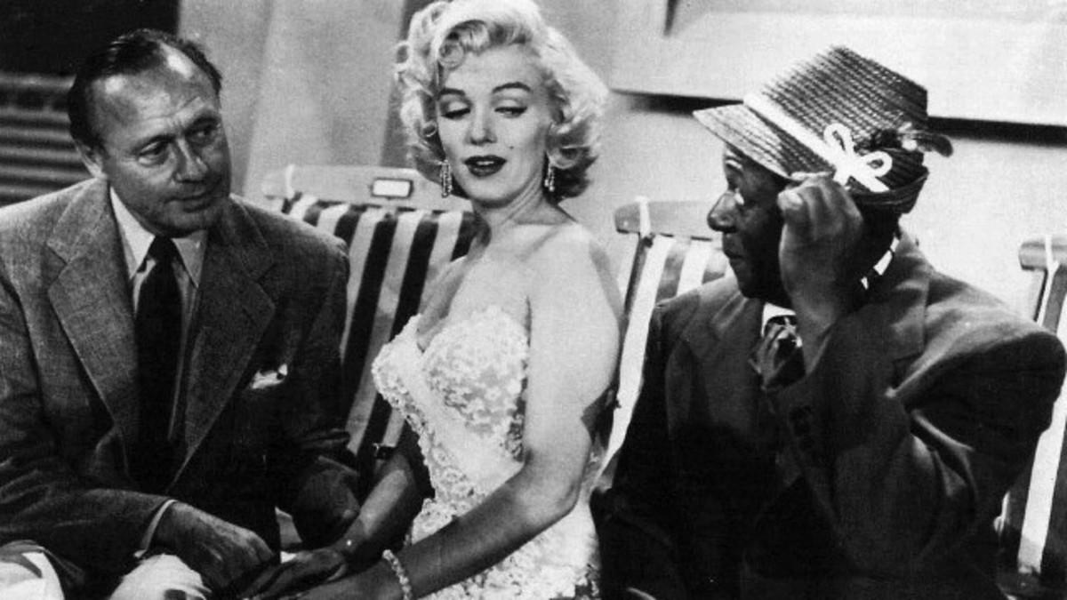 Jack Benny (left) with Marilyn Monroe and Eddie Anderson as Rochester Van Jones