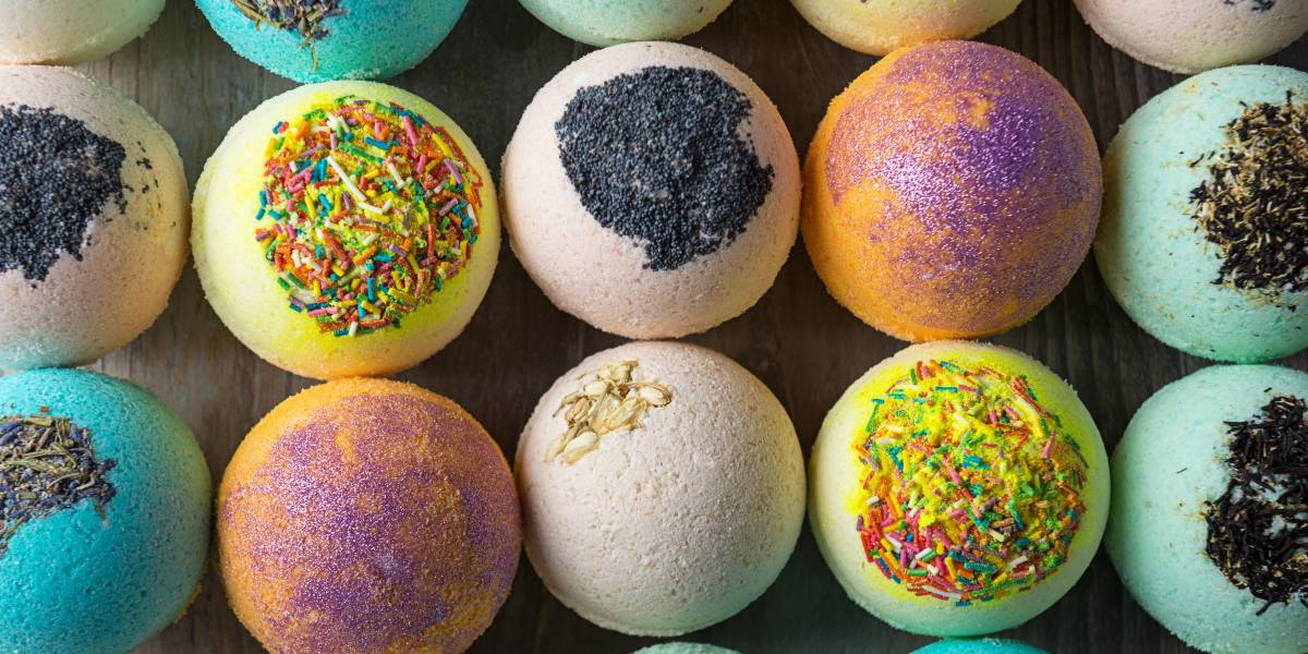 You may be tempted by the candy looking bath bombs. Before you buy any, do some research and find out how animal friendly are those colorful orbs. Some are tested on animals. Some use animal products. Very few are actually vegan.