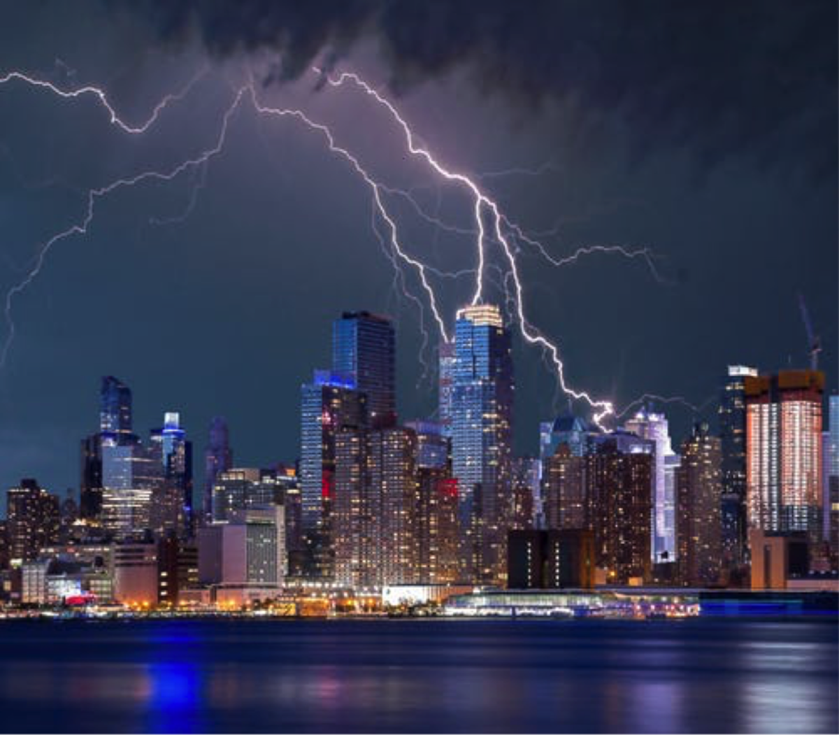 Lightning Rod on Top of Building