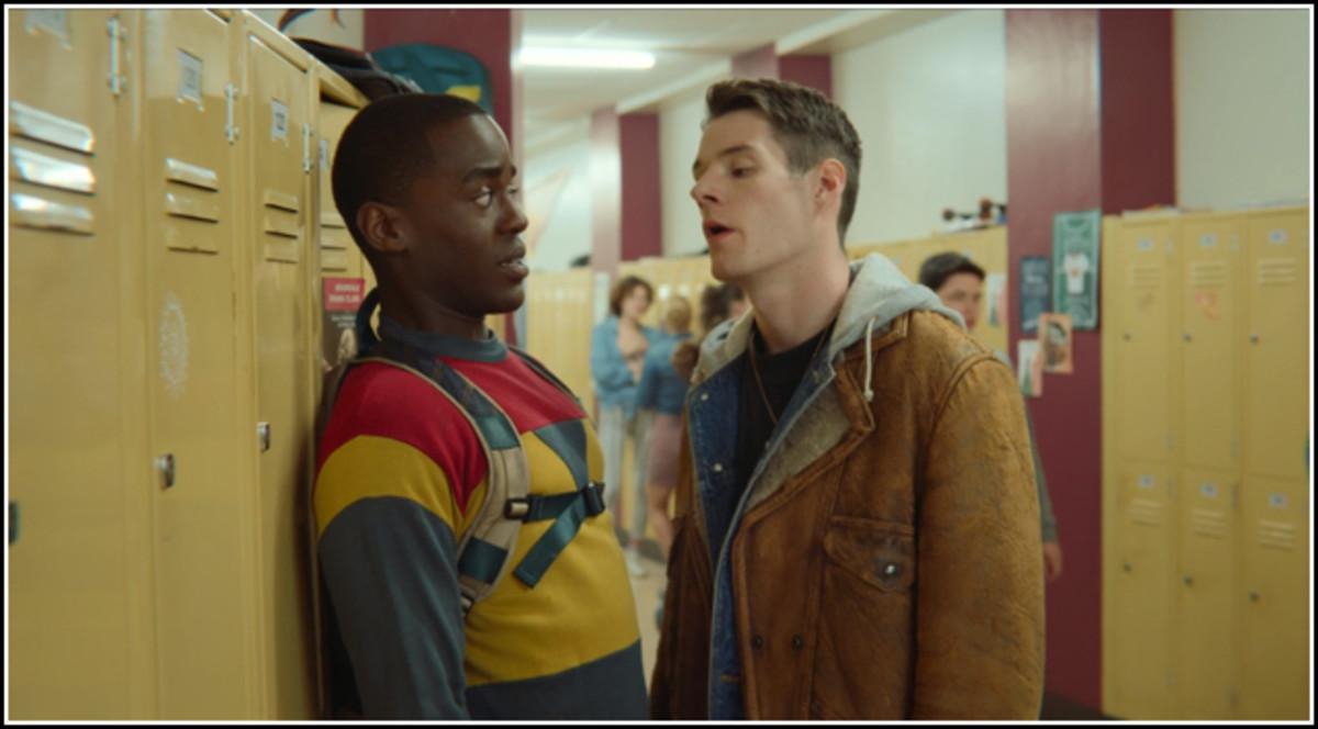 Eric (left) and Adam (right), 'Sex Education', season 1 episode 1