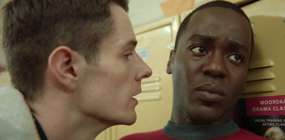 Adam (left) and Eric (right), 'Sex Education', season 1 episode 1