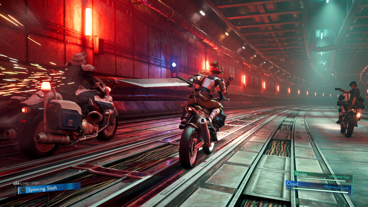 Chapter 4 began with an additional motorcycle driving minigame alongside Avalanche members Jesse, Biggs, and Wedge.