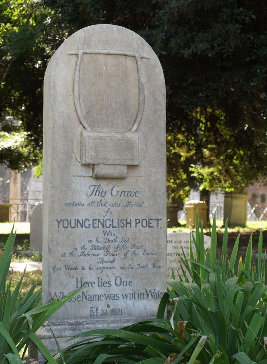 Keats Grave, Protestant Cemetery in Rome