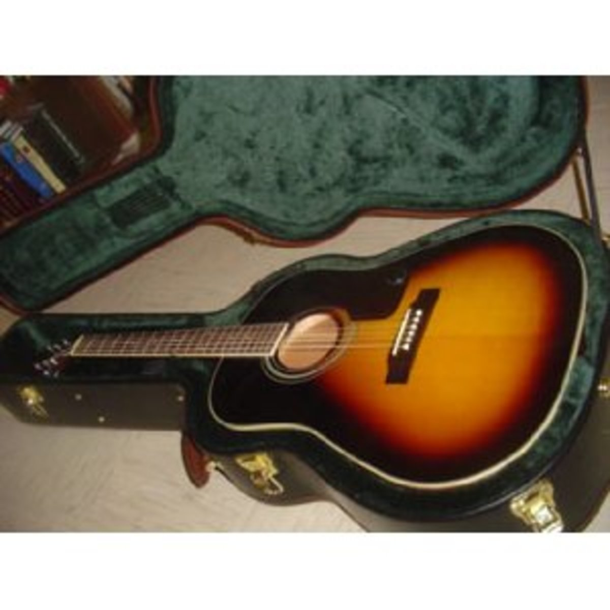 I should have had mine in a case, but the case cost almost as much as my guitar.