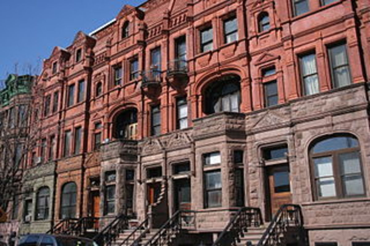 A townhouse in the revamped Harlem. The famed section of New York served as the home of the Grimes family.