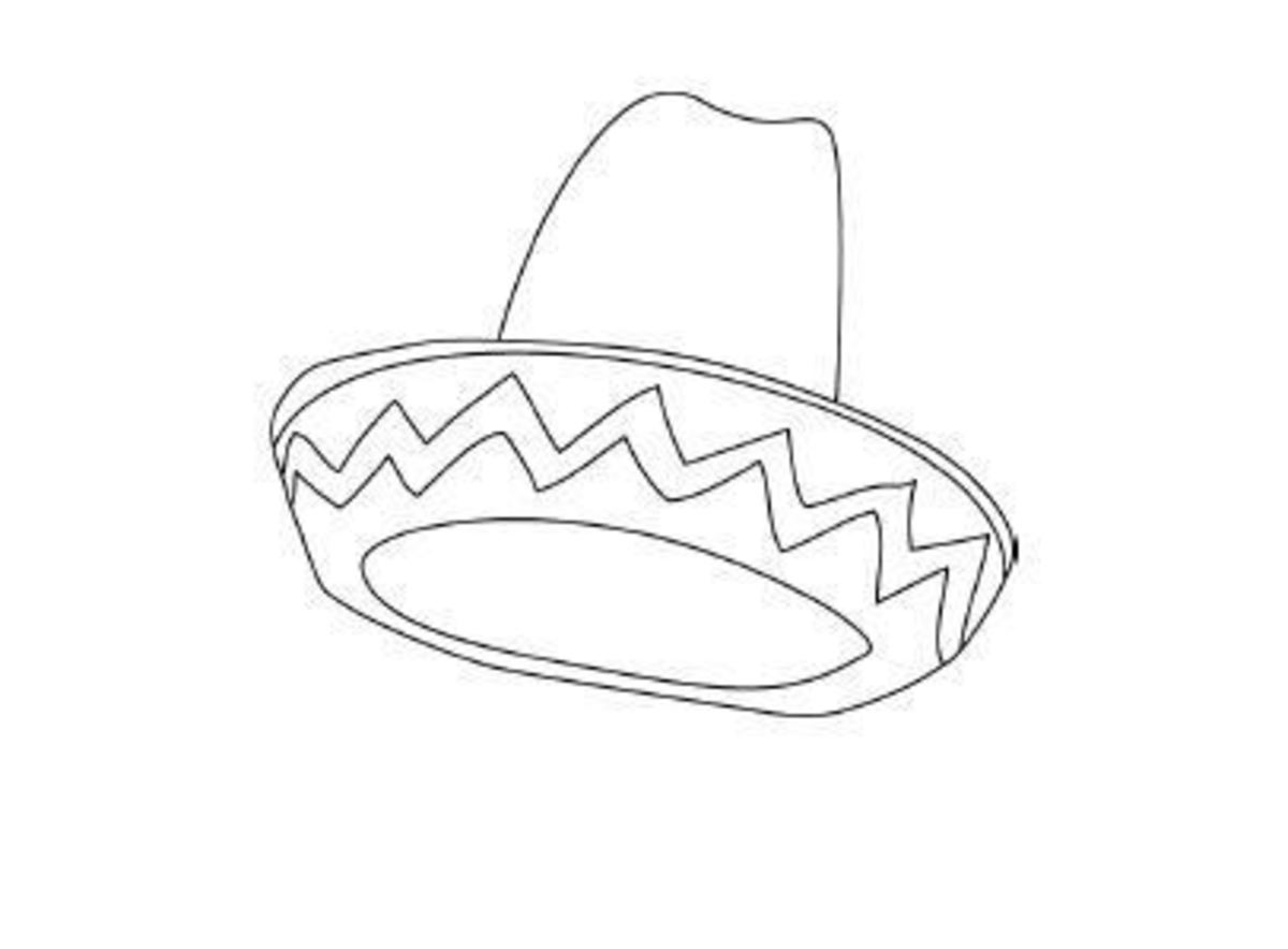 free sombrero coloring pages - photo#24
