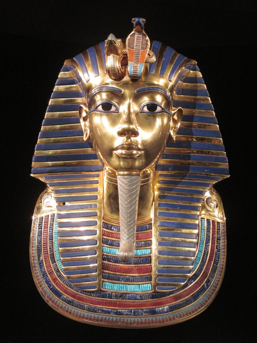 King Tut's funerary mask contains inlays of Lapis Lazuli.