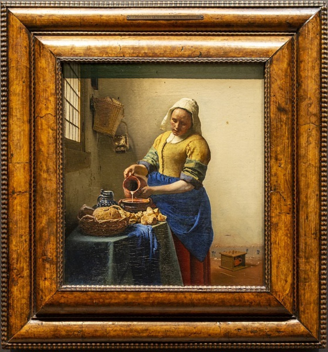 Vermeer used ground Lapis Lazuli as a pigment in his masterpieces.