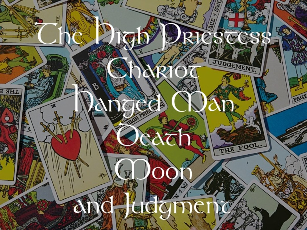 High Priestess, Chariot, Hanged Man, Death, Moon, and Judgment: Water Elemental Cards in Tarot
