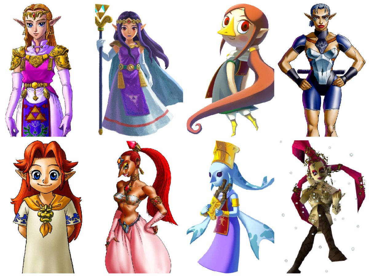 Female Zelda Characters