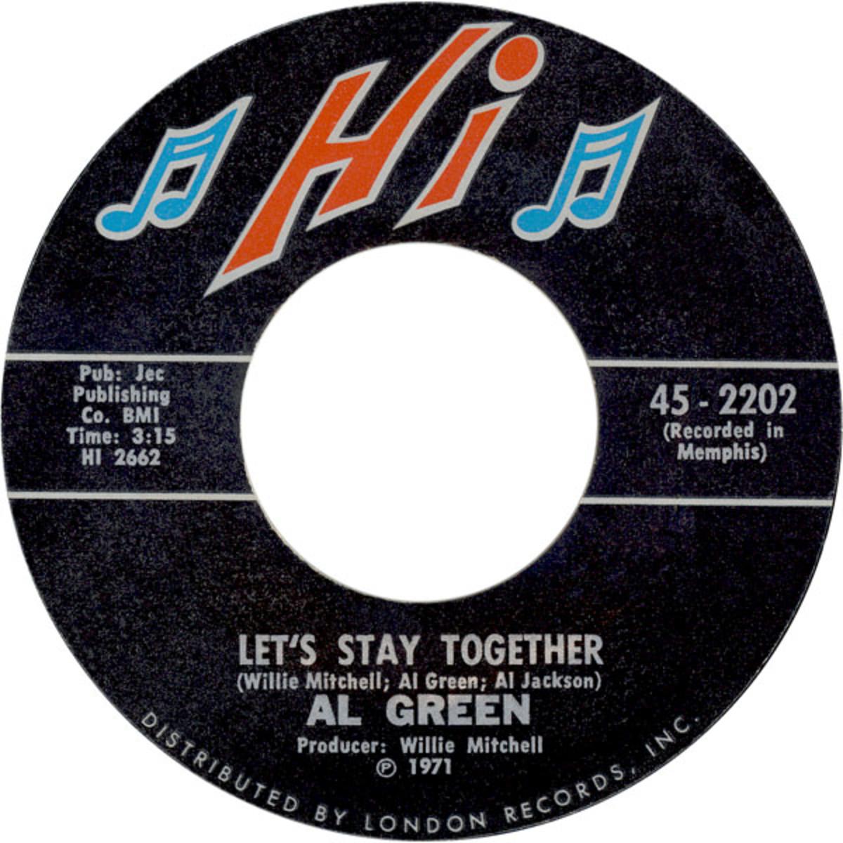 """Let's Stay Together"" US Vinyl Single"