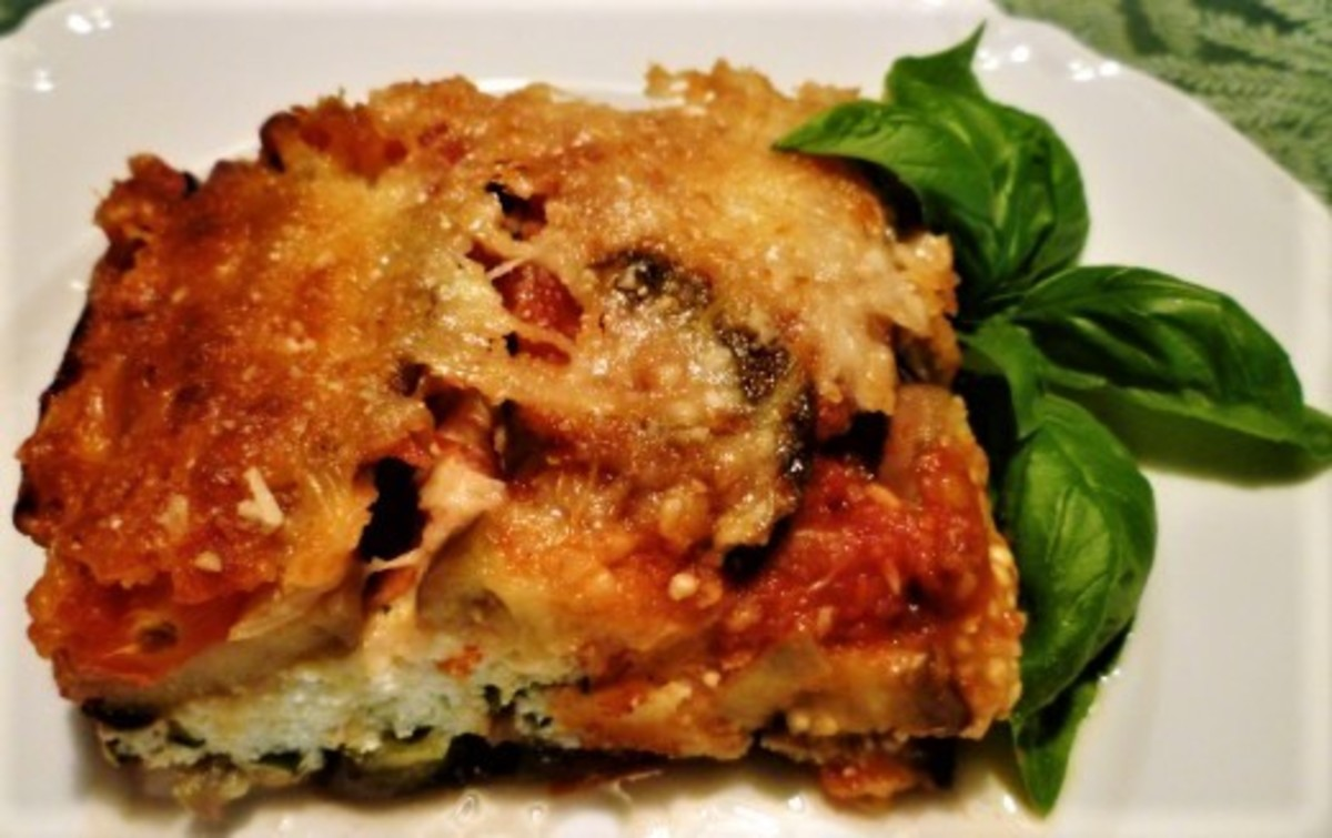 Delicious Three Cheese Eggplant Lasagna-Like Recipe: No Pasta or Meat